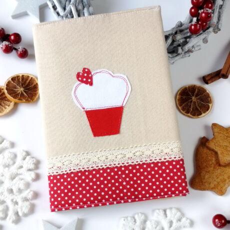 muffin mintás recept füzet