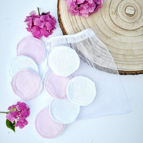 mosható arctisztító korong csepp mintával, frottír