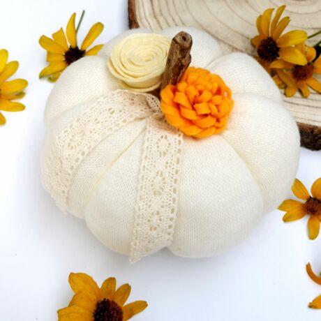 dekorációs őszi tököcske
