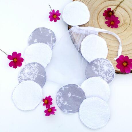 mosható arctisztító korong pitypang