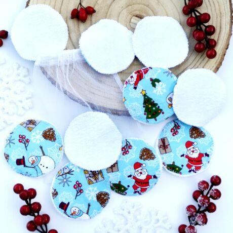 mosható arctisztító korong karácsonyi mintával