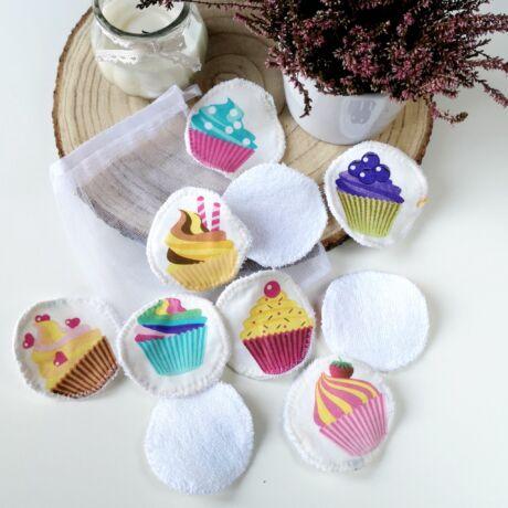 Mosható arctisztító korong-muffin minta