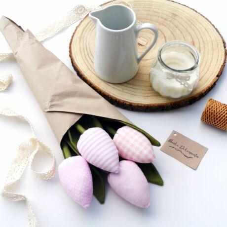 Tulipán csokor-rózsaszín