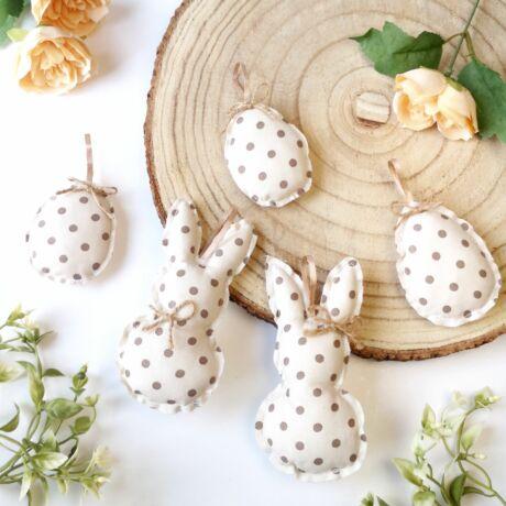 Húsvéti nyuszis szett-pöttyös